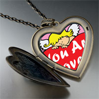 Necklace & Pendants - loved by an angel photo large heart locket pendant necklace Image.