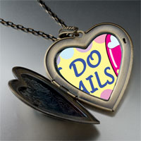 Necklace & Pendants - i nails photo large heart locket pendant necklace Image.