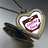 Necklace & Pendants - coffee time photo large heart locket pendant necklace Image.
