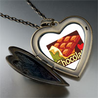 Necklace & Pendants - chocolate love large heart locket pendant necklace Image.