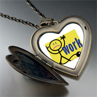 Necklace & Pendants - tied to work large heart locket pendant necklace Image.