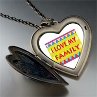 Necklace & Pendants - i love family large heart locket pendant necklace Image.