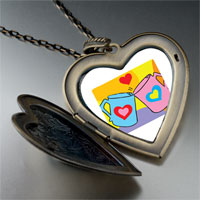 Necklace & Pendants - valentine heart mugs large heart locket pendant necklace Image.