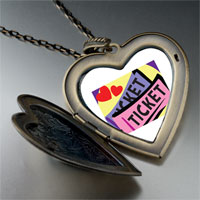 Necklace & Pendants - love heart tickets large heart locket pendant necklace Image.