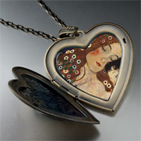 Necklace & Pendants - mom baby painting large heart locket pendant necklace Image.