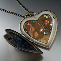 Necklace & Pendants - water serpents paintings large heart locket pendant necklace Image.