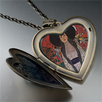 Necklace & Pendants - portrait adele bloch bauer large heart locket pendant necklace Image.