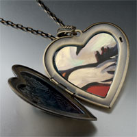 Necklace & Pendants - rest painting large heart locket pendant necklace Image.