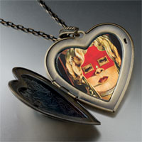 Necklace & Pendants - face mae west painting large heart locket pendant necklace Image.