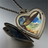 Necklace & Pendants - construction boiled beans painting large heart locket pendant necklace Image.