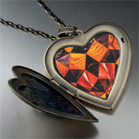 Necklace & Pendants - cinquenta tigre real painting large heart locket pendant necklace Image.