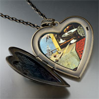 Necklace & Pendants - still life moving fast painting large heart locket pendant necklace Image.