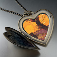 Necklace & Pendants - sower painting large heart locket pendant necklace Image.
