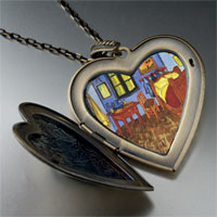 Necklace & Pendants - bedroom arles painting large heart locket pendant necklace Image.