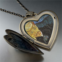 Necklace & Pendants - portrait dr gachet painting large heart locket pendant necklace Image.