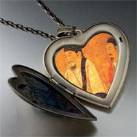 Necklace & Pendants - emperor houzhu chen large heart locket pendant necklace Image.