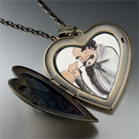 Necklace & Pendants - self joyfulness painting large heart locket pendant necklace Image.