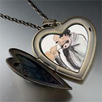 Necklace & Pendants - self joyfulness painting large heart locket pendant necklace Image.