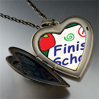 Necklace & Pendants - finish school large heart locket pendant necklace Image.