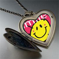 Necklace & Pendants - sunshine smile large heart locket pendant necklace Image.