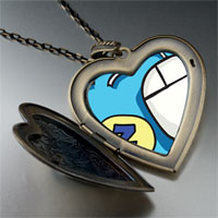 Necklace & Pendants - sleep at work large heart locket pendant necklace Image.