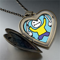 Necklace & Pendants - lift weights large heart locket pendant necklace Image.