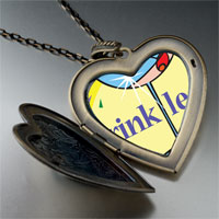 Necklace & Pendants - drink less alcohol large heart locket pendant necklace Image.
