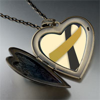 Necklace & Pendants - black gold large heart locket pendant necklace Image.