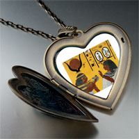 Necklace & Pendants - egyptian kings thebe photo italian large heart locket pendant necklace Image.