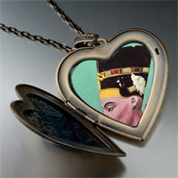 Necklace & Pendants - egyptian nefertiti photo italian large heart locket pendant necklace Image.