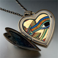Necklace & Pendants - egyptian eye horus photo heart flower heart locket pendant gifts for women necklace Image.