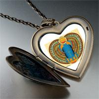 Necklace & Pendants - egyptian khepri photo italian large heart locket pendant necklace Image.