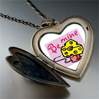 "Necklace & Pendants - valentine' s day  "" be mine""  photo italian large heart locket pendant necklace Image."
