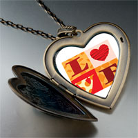 "Necklace & Pendants - valentine' s day  "" love""  photo italian large heart locket pendant necklace Image."