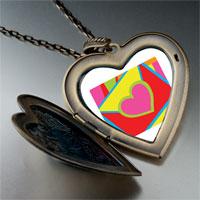 Necklace & Pendants - valentine' s day heart envelope photo large heart locket pendant necklace Image.