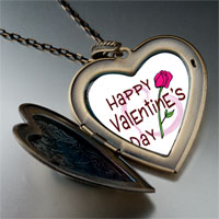 Necklace & Pendants - valentine' s day pink rose photo large heart locket pendant necklace Image.