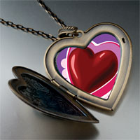 Necklace & Pendants - valentine' s day chocolate heart photo large heart locket pendant necklace Image.