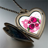 Necklace & Pendants - valentine' s day red roses photo large heart locket pendant necklace Image.