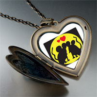 Necklace & Pendants - valentine' s day mouse love photo large heart locket pendant necklace Image.