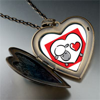 Necklace & Pendants - valentine' s day heart shaped sheep photo large heart locket pendant necklace Image.