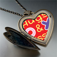 Necklace & Pendants - valentine' s day hugs &  kisses photo large heart locket pendant necklace Image.