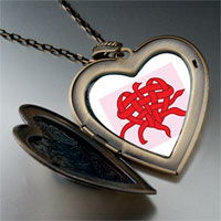Necklace & Pendants - valentine' s day heart knot photo large heart locket pendant necklace Image.