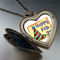 Necklace & Pendants - leap day photo large heart locket pendant necklace Image.