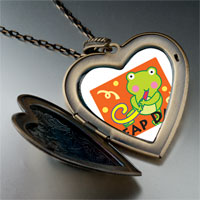 Necklace & Pendants - leap day party frog photo large heart locket pendant necklace Image.