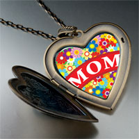 Necklace & Pendants - mother' s day theme photo heart flower heart locket pendant gifts for women necklace Image.