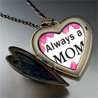 Necklace & Pendants - mother' s day theme photo heart flower heart locket pendant for women necklace Image.