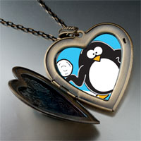 Necklace & Pendants - cartoon theme photo heart flower heart locket pendant i love winter gifts for women necklace Image.