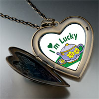 Necklace & Pendants - cartoon theme photo heart flower heart locket pendant i' m lucky gifts for women necklace Image.