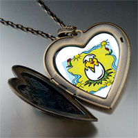 Necklace & Pendants - cartoon theme photo heart flower heart locket pendant easter gifts for women necklace Image.