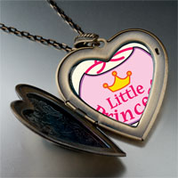 Necklace & Pendants - cartoon theme photo heart flower heart locket pendant little princess gifts for women necklace Image.